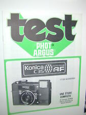 TEST PHOT ARGUS KONICA C35 AF en francais photo photographie