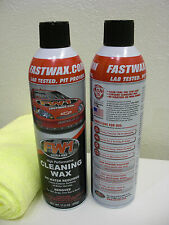 2 Cans FW1 FASTWAX Waterless Wash Carnauba Car Wax FREE SHIP + MICROFIBER TOWEL