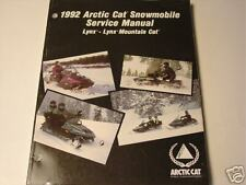 1992 ARCTIC CAT SNOWMOBILE LYNX SERVICE  MANUAL NEW