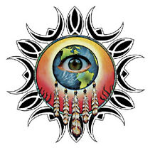 """3"""" Eyes of the World Mandala Stickers Hippy  Decals Hippie Feather Graphics Cool"""