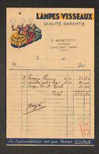 """LAVELANET (09) ELECTRICITE """"F. MARATUECH"""" Publicité LAMPE VISSEAUX en 1930"""