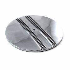 "Billet Aluminum Air Cleaner Polished Aluminum Finned Top 14"" Holley Edelbrock"