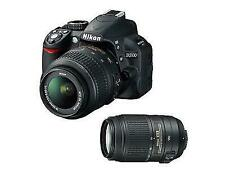 Nikon D3100 14.2MP Digital SLR Camera Black with 18-55mm & 55-300mm Lens & Case