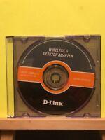 D-Link Wireless G Desktop Adapter Installation Software Disc PC CD-Rom, 2008