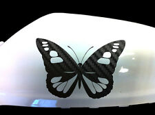 Butterfly Girl Car Stickers Wing Mirror Styling Decals (Set of 2), Black Carbon
