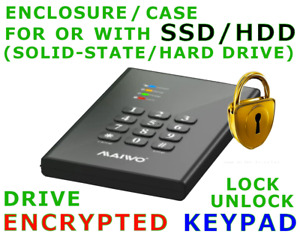 Solid-State/Hard-Disk DRIVE And/Or ENCLOSURE With AES Encryption KeyPad w/o Lot