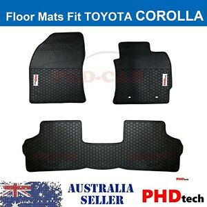 Premium Quality All Weather Rubber Floor Mats to fit TOYOTA Corolla HATCH