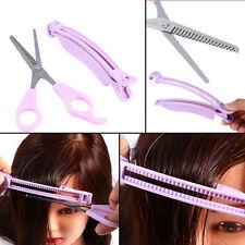 Fashion Fringe Hair Cutting Comb Guide Clipper Layer Bang Tool Scissor Set  JS