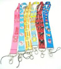 6 Assorted Gloomy Bear Jiji Cat Yu Yu Hakusho Pokemon Chain LANYARD Set #40