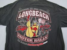 Long Beach Motor Rally Men's Tshirt Gray Size Large