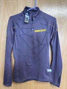"New Adidas ""TERREX ICESKY LONG SLEEVE II"" Women's Small Hiking 1/2 Zip Pullover"