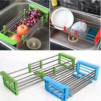 Kitchen Sink Storage Dish Drying Rack Holder Vegetable Fruit Drainer Colanders