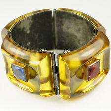 Fred Block Applejuice Bakelite 4 Link Hinged Bangle Bracelet