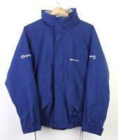 Sprayway Goretex XCR Mens Blue Hooded Zip Up Outdoor Waterproof Coat - S