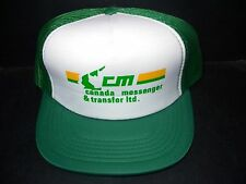 VINTAGE CM CANADA MESSENGER & TRANSFER SNAPBACK MESH TRUCKERS CAP - BALL HAT