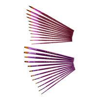 12*Künstlerpinsel Pinselset Malpinsel Flachpinsel Pinsel Bürste Aquarell Ölfarbe