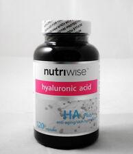 NUTRIWISE HA PLUS hyaluronic acid + collagen skin care 120 capsules high potency