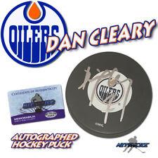 Dan Cleary Signed Puck Edmonton Oilers Puck w/COA