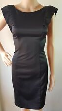 REVIEW Ladies Black Fitted Lined Knee Length Dress Size: 6 EUC