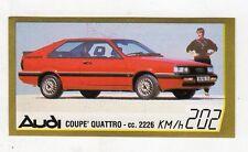 figurina - BAGGIOLI GOLDEN CAR NUMERO 11 AUDI COUPE' QUATTRO CC. 2226