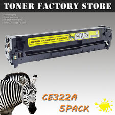 5PK CE322A 128A Yellow Toner For HP Color LaserJet Pro CM1415 CM1415fn CM1415fnw