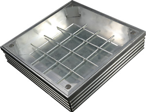Aluminium Man Hole Drain Cover - Internal Triple Sealed & Locked - 400x400x60mm