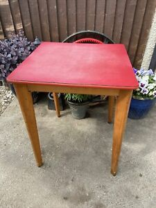 Vintage Retro 1950/60s Red Formica Top  Kitchen Table by Stoe Yugoslavia