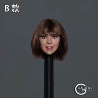 """GACTOYS 1/6 Female Girl Short Hair Head Sculpt GC038 Fit 12"""" Action Figure Model"""