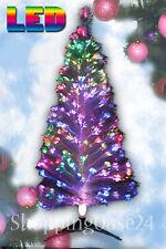Weihnachtsbaum LED Glasfaser künstlicher Tannenbaum Christbaum 120 weiss