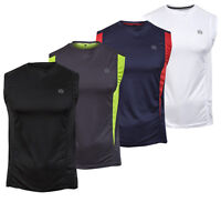 Mens Muscle Vest Short Sleeve T Shirt  Gym Sports Running Tee Fitness Top