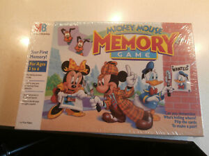 Mickey Mouse Memory Game 1994 Milton Bradley Factory Sealed