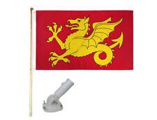 New listing 5' Wooden Flag Pole Kit W/ Nylon White Bracket 3x5 Wessex England Polyester Flag