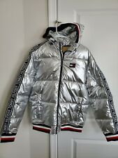 New Tommy Hilifiger Puffer S small Down Mattalic Silver...