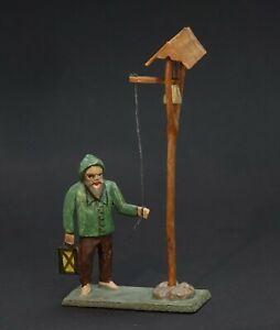 Grulicher Krippenfigur, Nachtwächter am Glockenturm > 7 cm < (# 13877)
