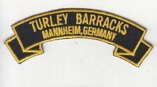 Turley Barracks, Mannheim Germany rocker tab embroidered patch