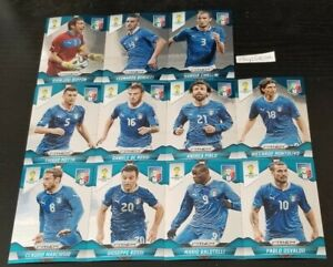 2014 Panini Prizm World Cup Team Base Set Italy 123-133 11 Lot Complete Italia