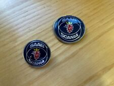 Saab Scania 1998-2003 900 9-3 convertible Bonnet & Boot Badge - 4522884, 4910915