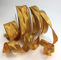 Wired Glamour Christmas ribbon x 1M + 1M FREE!! 4 colours & 3 widths. Gift wrap