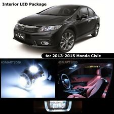 6PCS Cool White LED Bulbs Interior Kit for 2013 - 2015 Honda Civic Coupe Sedan