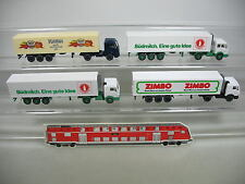 af221-0, 5 #4x Wiking H0 Lorry/Truck Mercedes-Benz MB: Zimbo + Rama + Südmilch