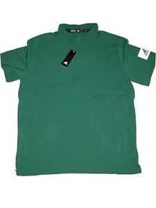 NWT ADIDAS Lightweight Quarter Zip Short Sleeve Pullover Game Mode Green Size L