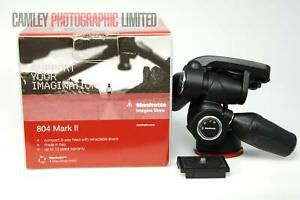 Manfrotto Head MH804-3W 804 Mark II And Plate. Boxed. Graded: LN- [#9521]