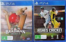 Ashes Cricket and Don Bradman Cricket 17 PS4