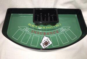 Luminarc Black Jack Blackjack Poker Table Ceramic Chip & Dip Party Platter Set