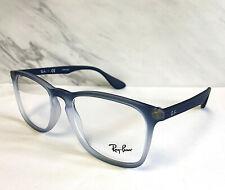NWT Ray-Ban Eyeglasses Blue Grad Frames / Clear Demo Lens RB7074-5601  50-18 145
