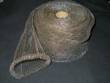 """Roll of Approx 75ft x 5.25"""" Stretchy Metal Wire Mesh Scourer Shielding Sleeve"""