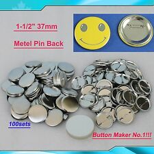 "100sets 1-1/2"" 37mm Metal Pin for Button Machine Badge Button Parts BIG SALE!!!"