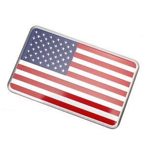 1x US USA American Flag 3D Car Sticker Auto Decor Decal Badge Emblem Aluminium