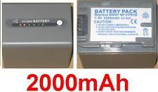 Batería 2000mAh tipo NP-FP90 NP-FP91 Para Sony DCR-DVD202E