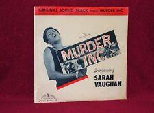 OST LP MURDER INC. G. WEISS F. DE VOL SARAH VAUGHAN 1960 CANADIAN AMERICA SEALED